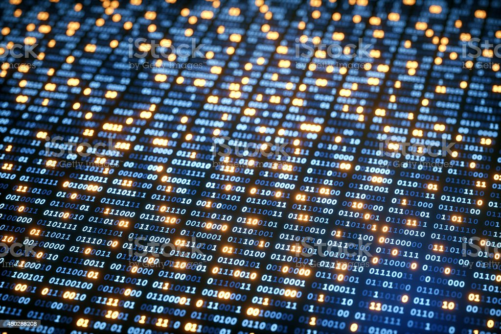 IT Background Binary Code A06 stock photo