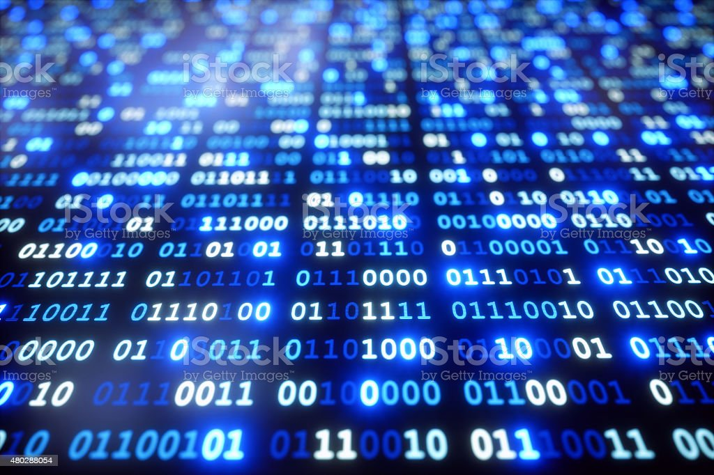 IT Background Binary Code A08 stock photo