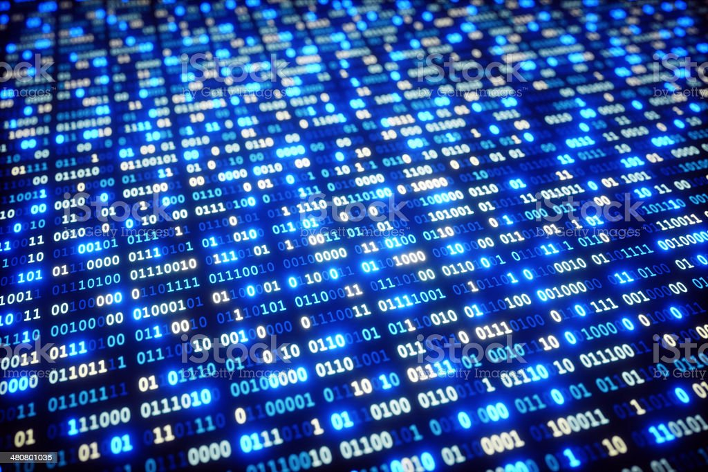 IT Background Binary Code A09 stock photo