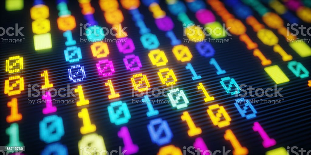 IT Background Binary Code A15 stock photo
