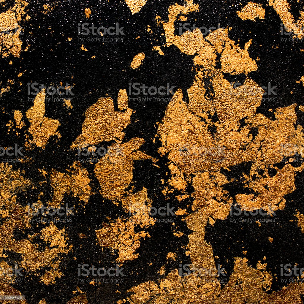 background black gold spots stock photo