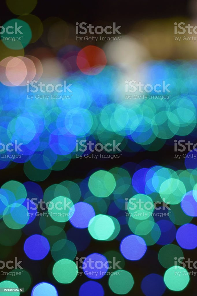 Background blue LED lights blur stock photo
