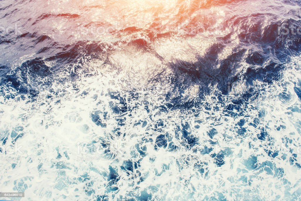 Background blue waves of the sea stock photo