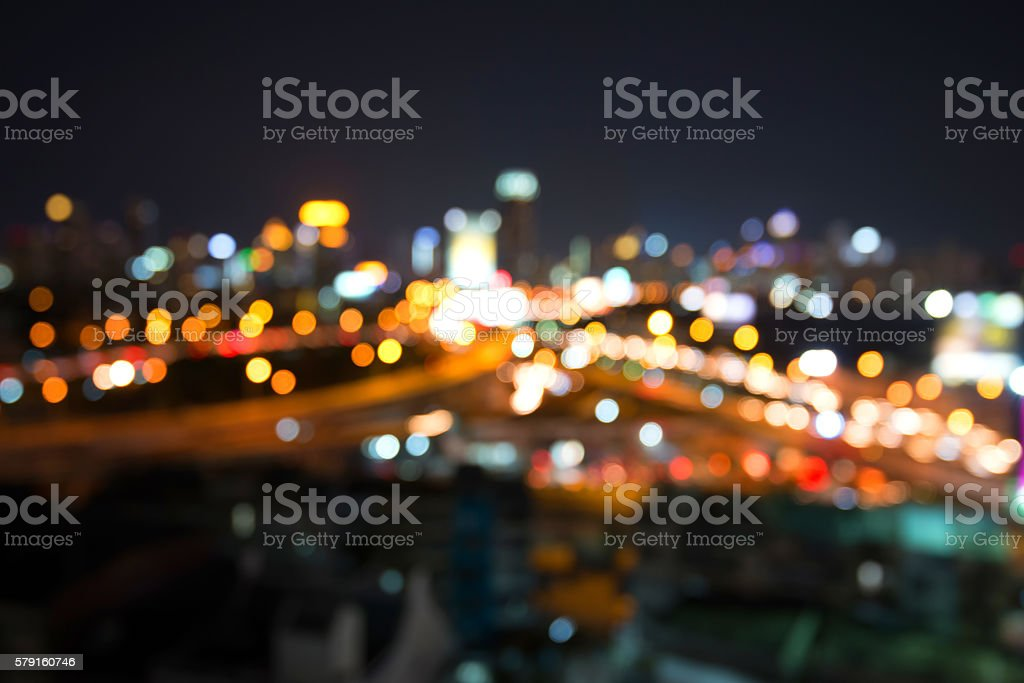 Background blur and bokeh in the streets and opened stock photo