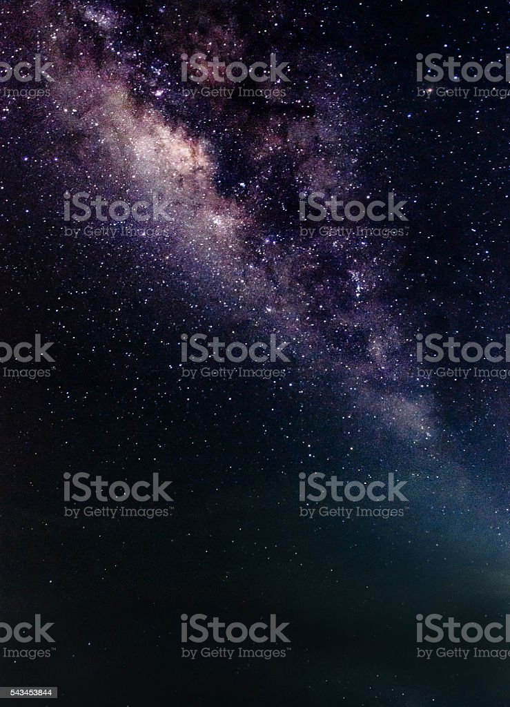 Background blur and sofe focus Milky Way stock photo