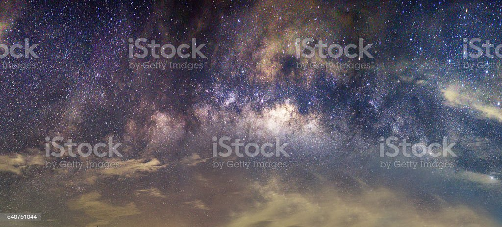 Background blur Milky Way in the night sky dark stock photo