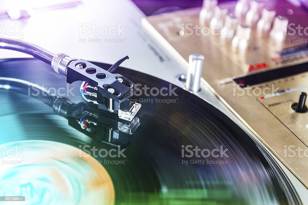 DJ Background - blurred royalty-free stock photo