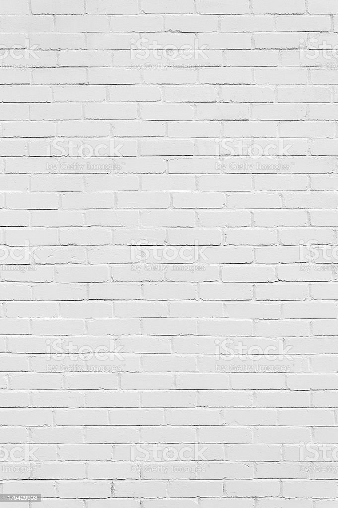 Background: brick wall painted white (vertical) stock photo