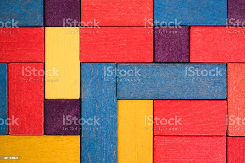 background built of colored children's blocks stock photo