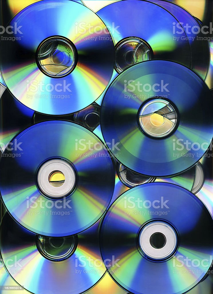 Background - CD-Roms royalty-free stock photo