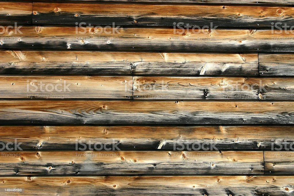Background - Cedar Plank Siding royalty-free stock photo