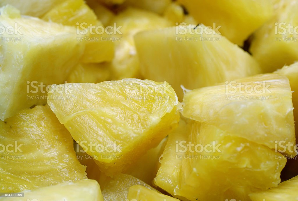Background Chunks of  tropical pineapple fruit stock photo