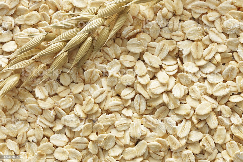 Background close up image of oats stock photo