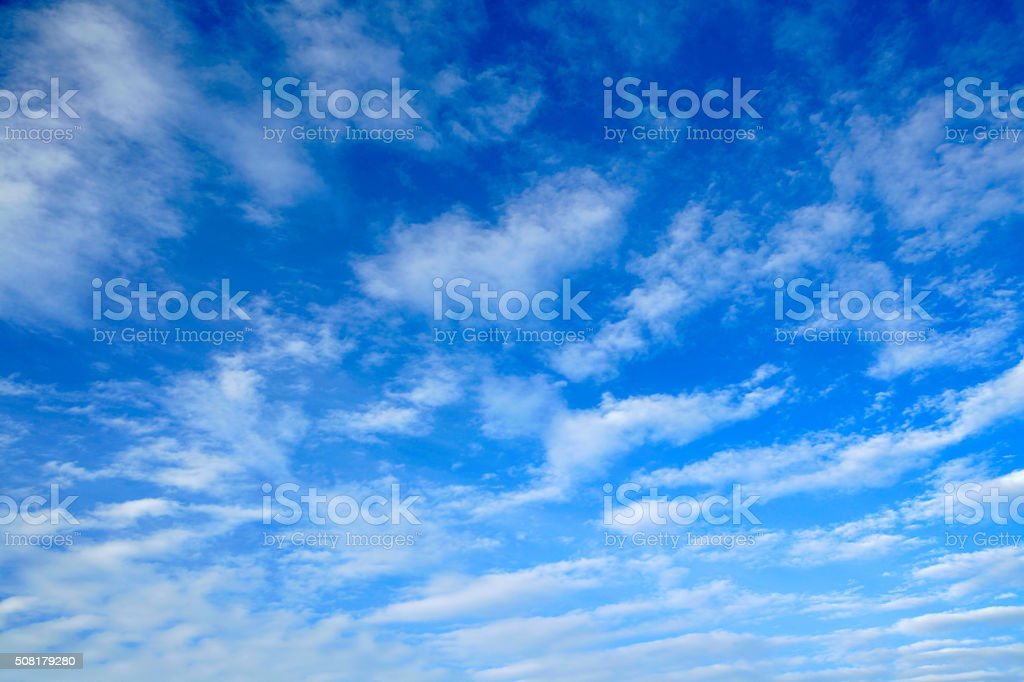 Background - Clouds in a blue sky stock photo