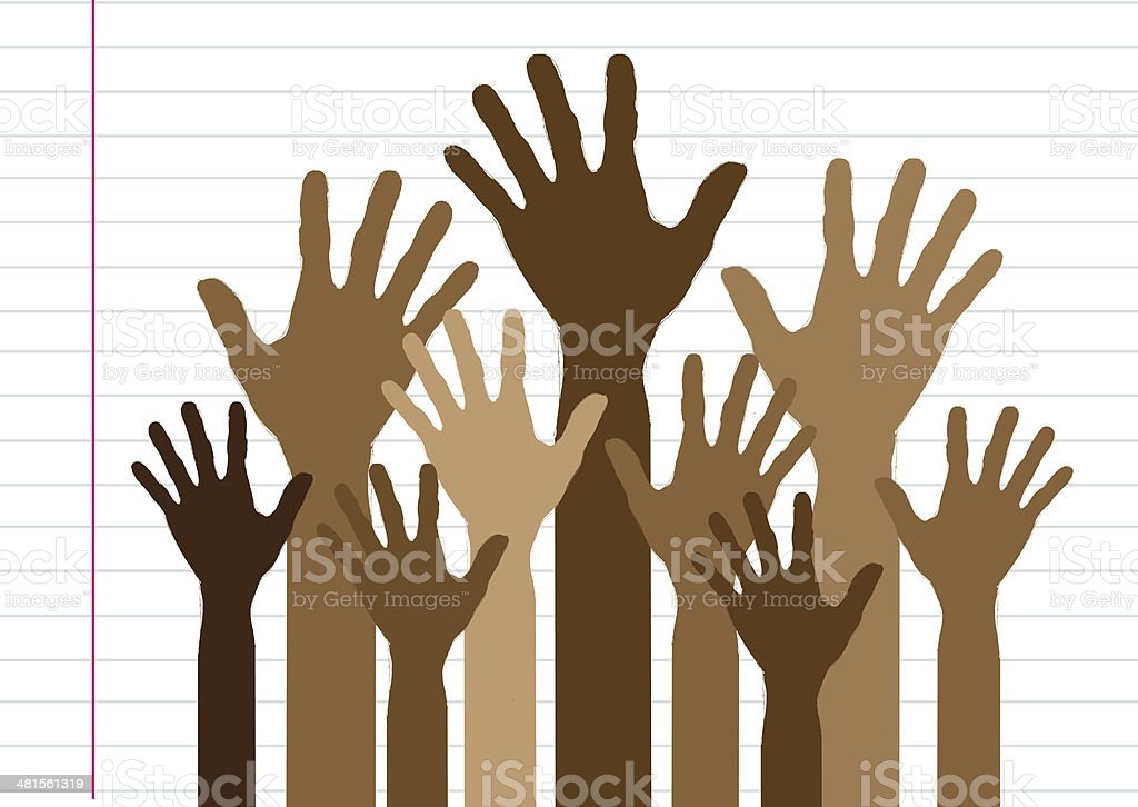 Background colorful silhouette hands design royalty-free stock photo