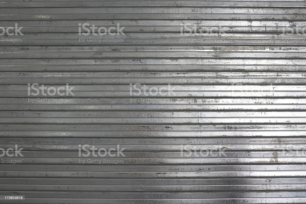 Background: Corrugated Metal Door stock photo