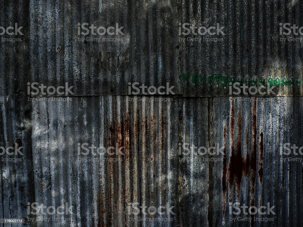 Background - corrugated metal royalty-free stock photo