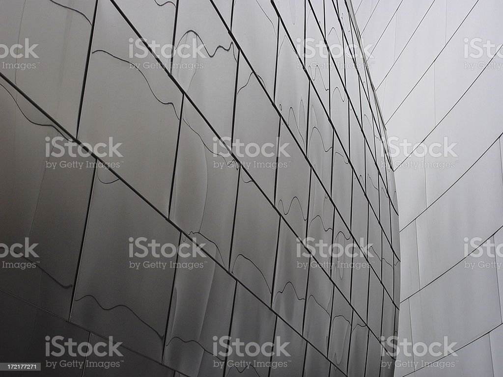 Background: Curved Metal Walls royalty-free stock photo