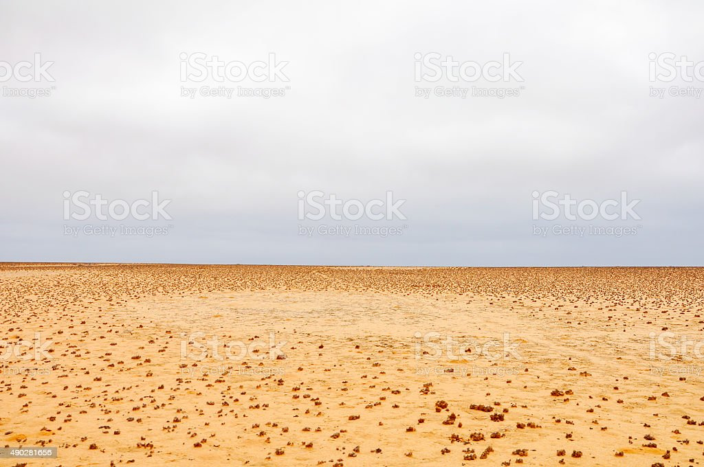 Background - Desert and Cloudy Weather stock photo