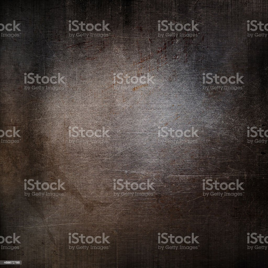 Background design featuring a grunge metal texture stock photo