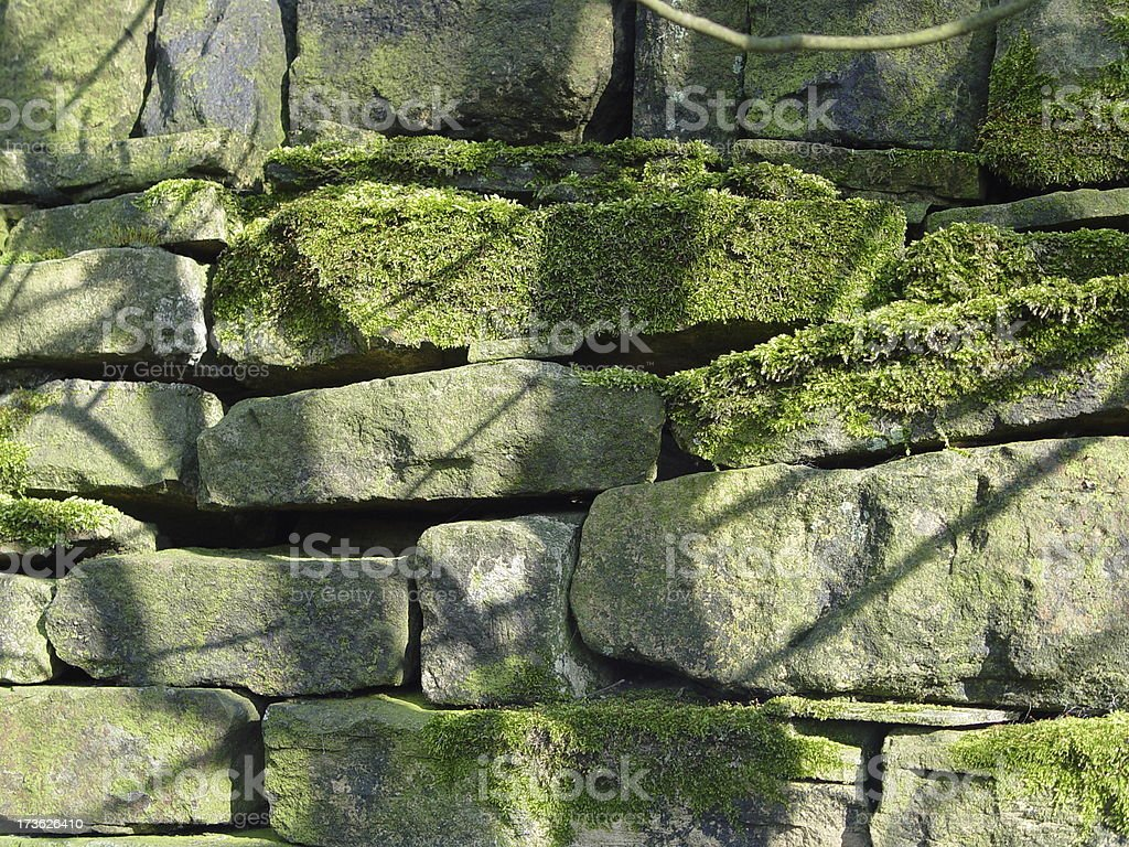 Background - Dry Stone Wall stock photo