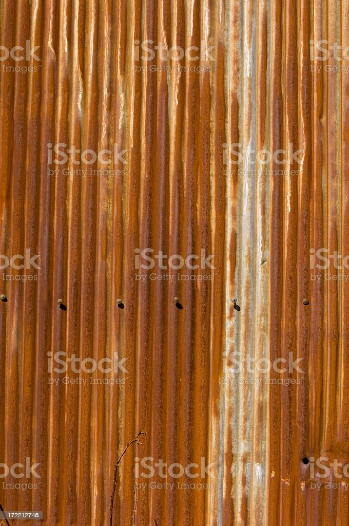 Background Element - Corrugated Metal royalty-free stock photo