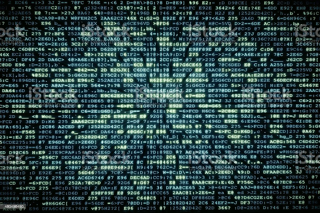 IT Background Encrypted Data A01 stock photo