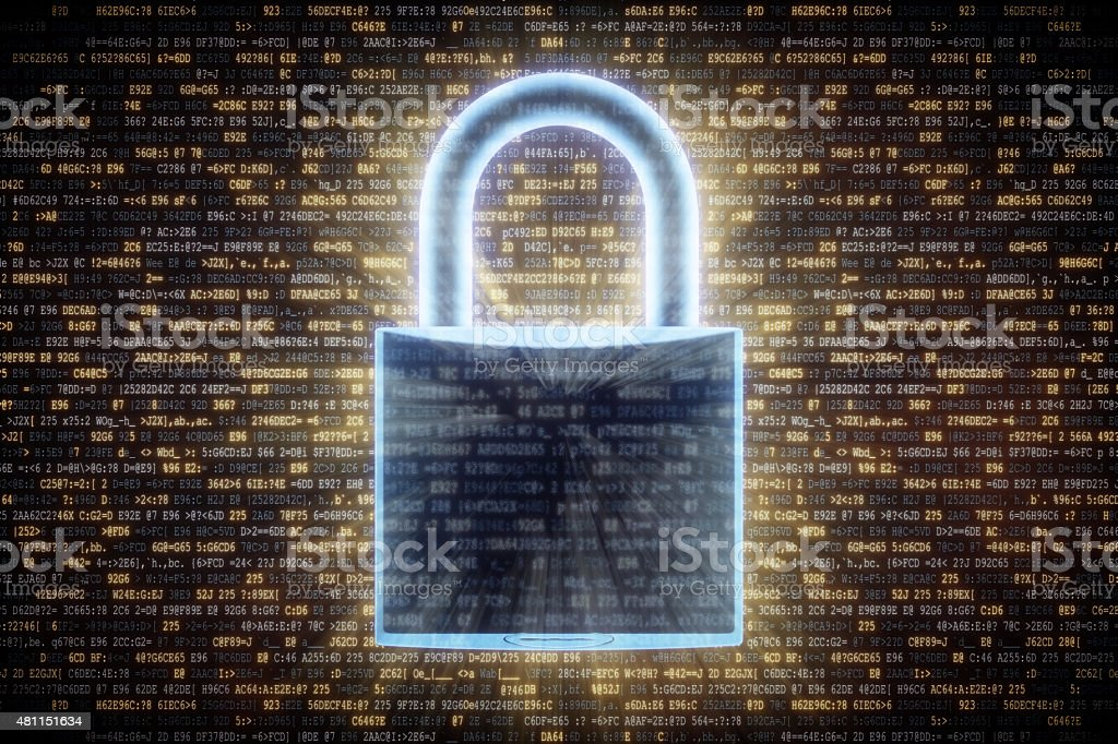 IT Background Encrypted Data A03 stock photo