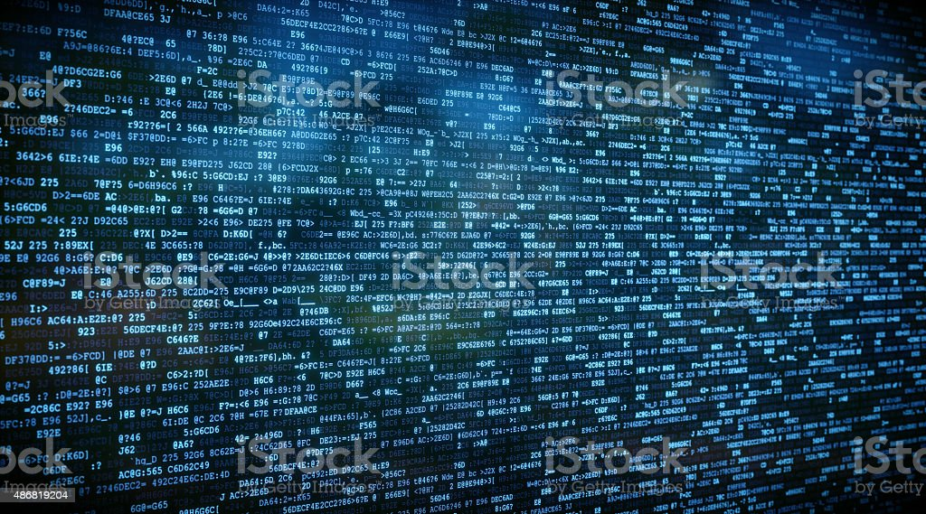 IT Background Encrypted Data A04 stock photo