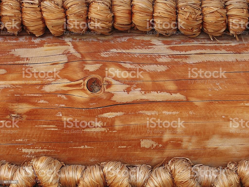 Background - fancy log house wall stock photo
