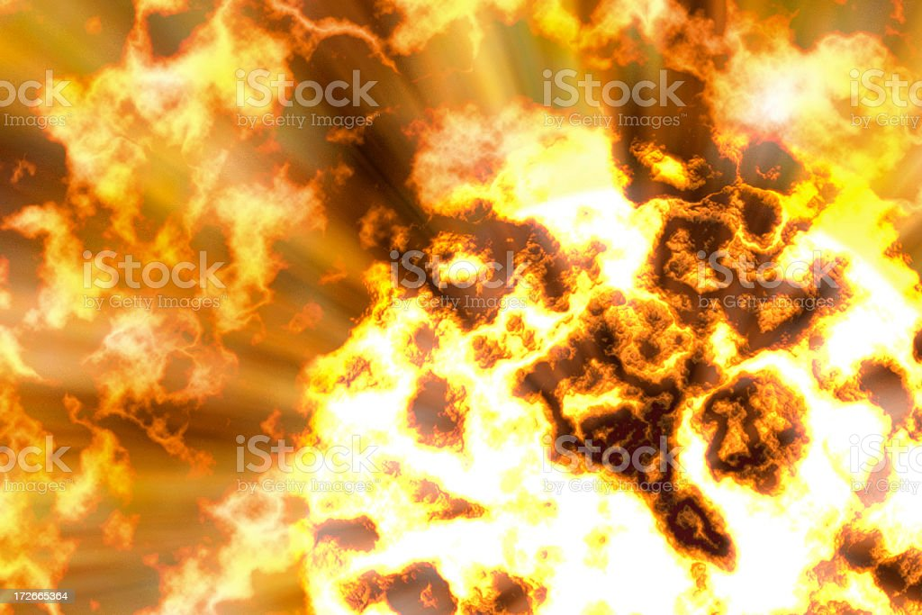 Background - Fireball Blow Up stock photo