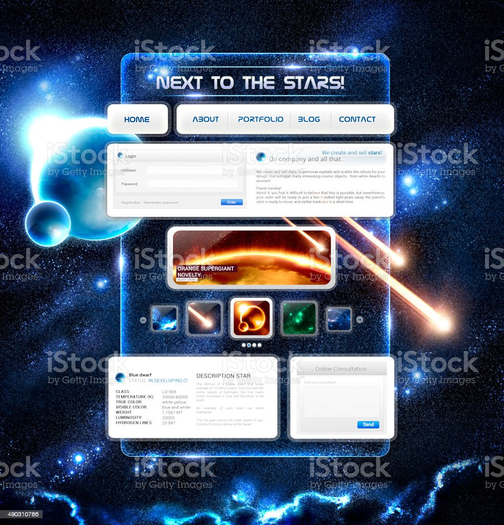 Background for Space website. stock photo