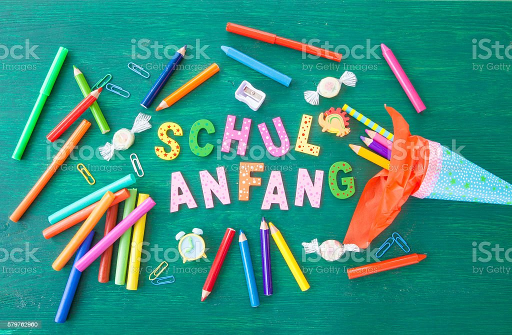 Background for the first day of school stock photo