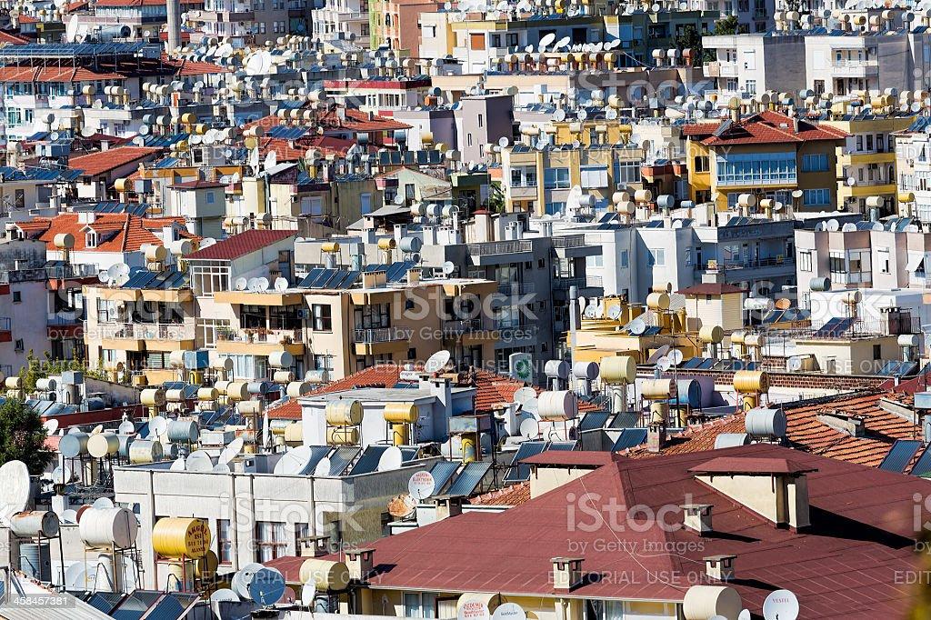 Background for urbanisation - solar energy royalty-free stock photo
