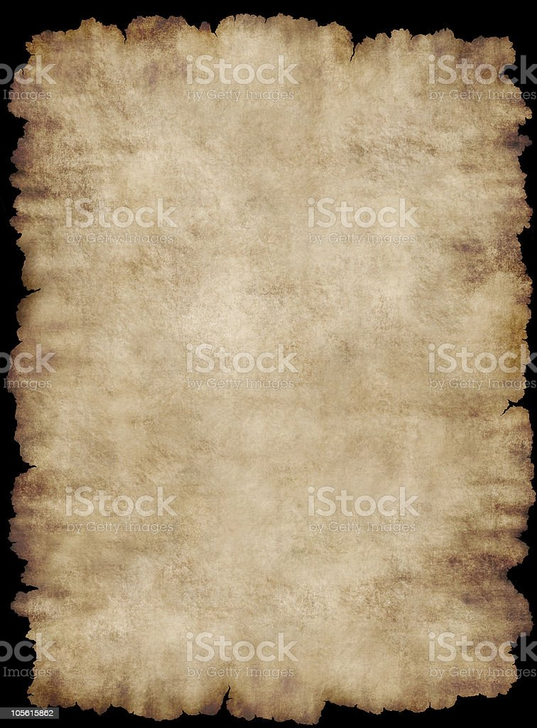 Background frame parchment paper texture isolated stock photo