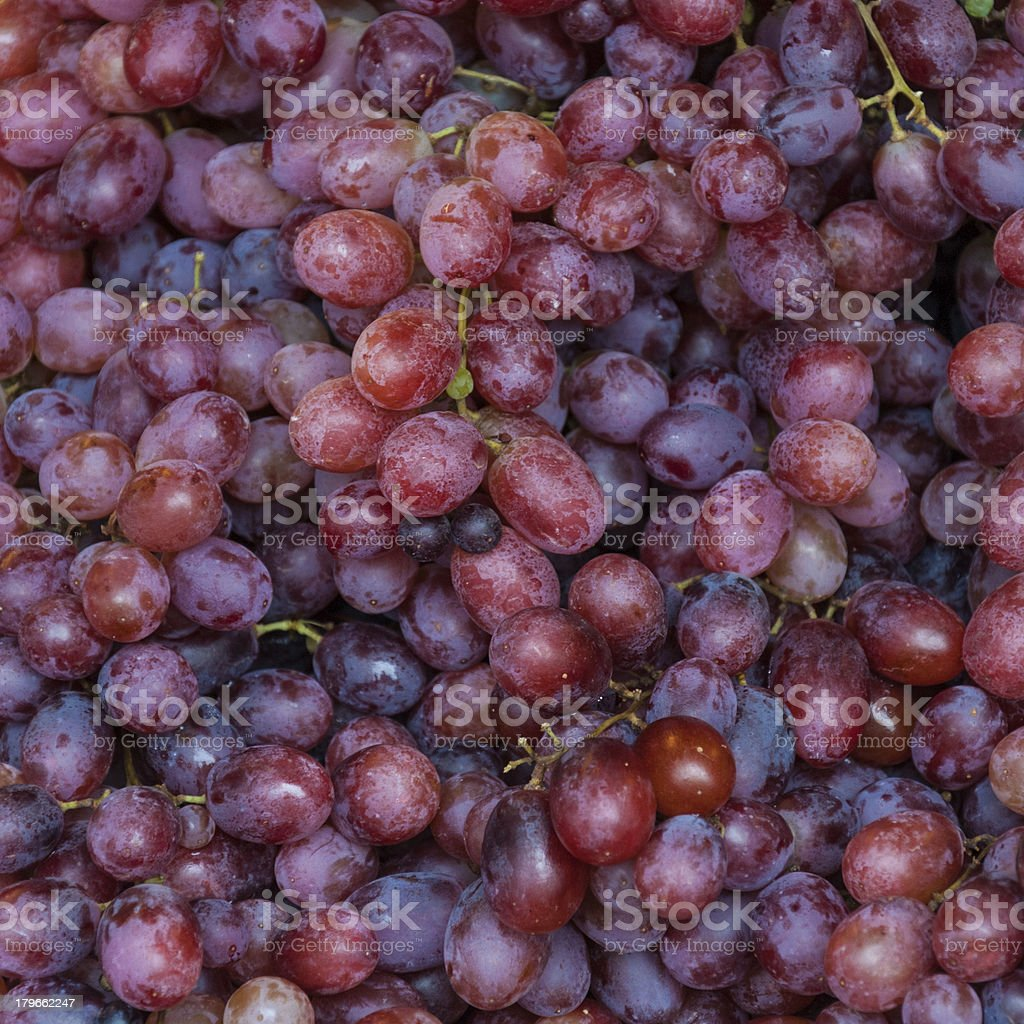 background freshly picked red grapes royalty-free stock photo