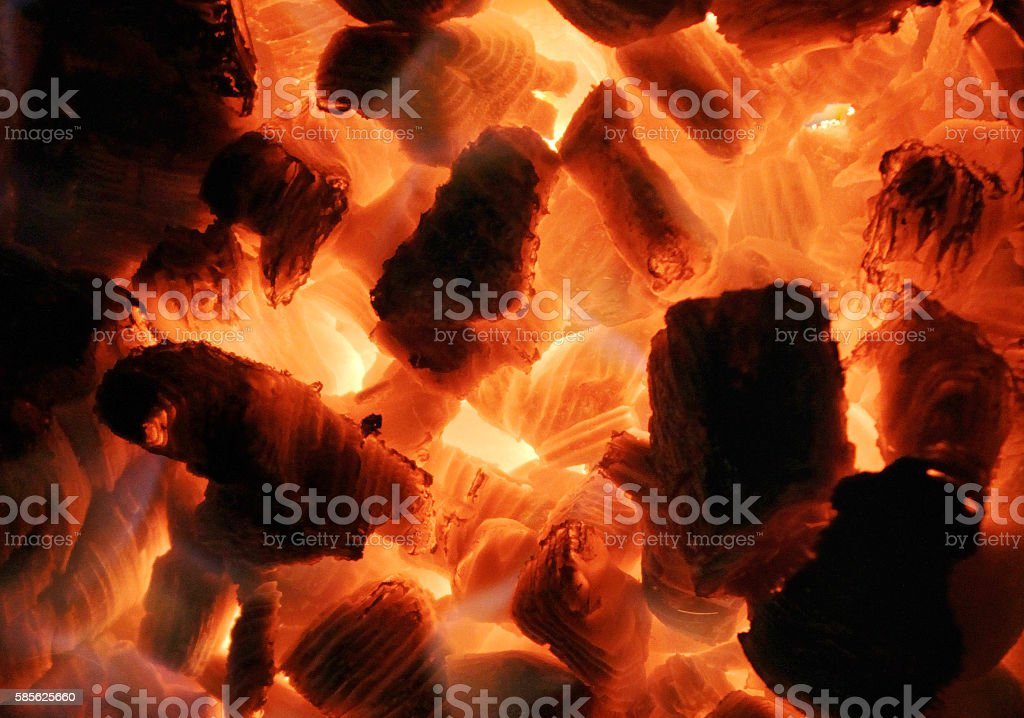 Background from a fire and charcoal stock photo