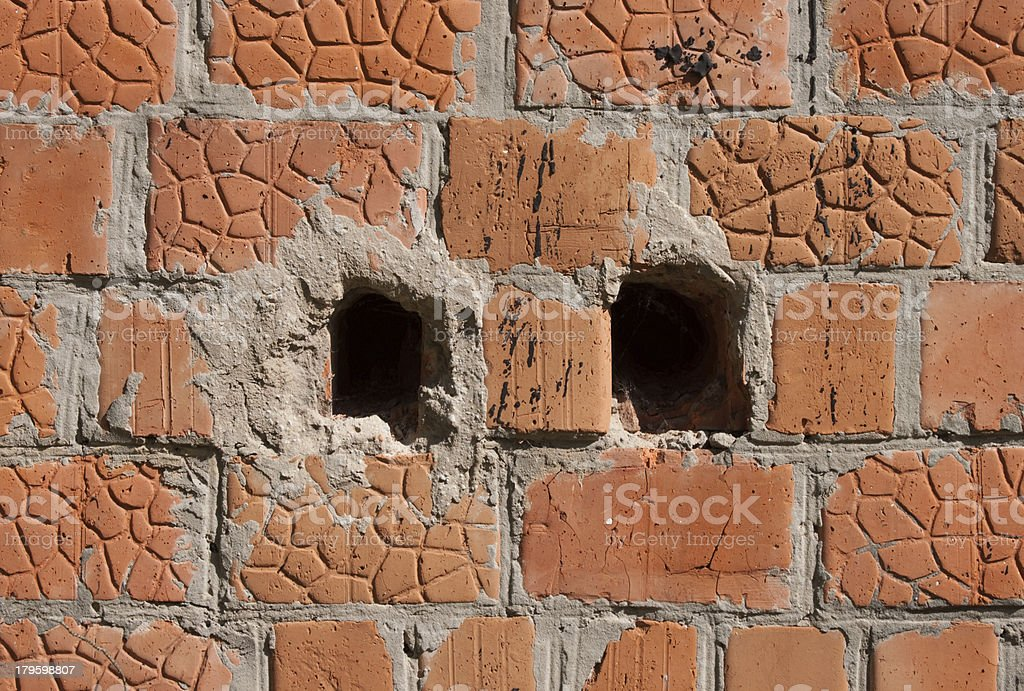 Background from an old brick wall royalty-free stock photo