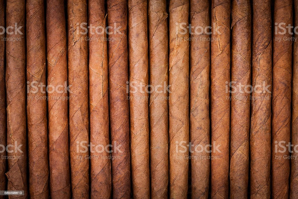 background from arrange of cigars stock photo