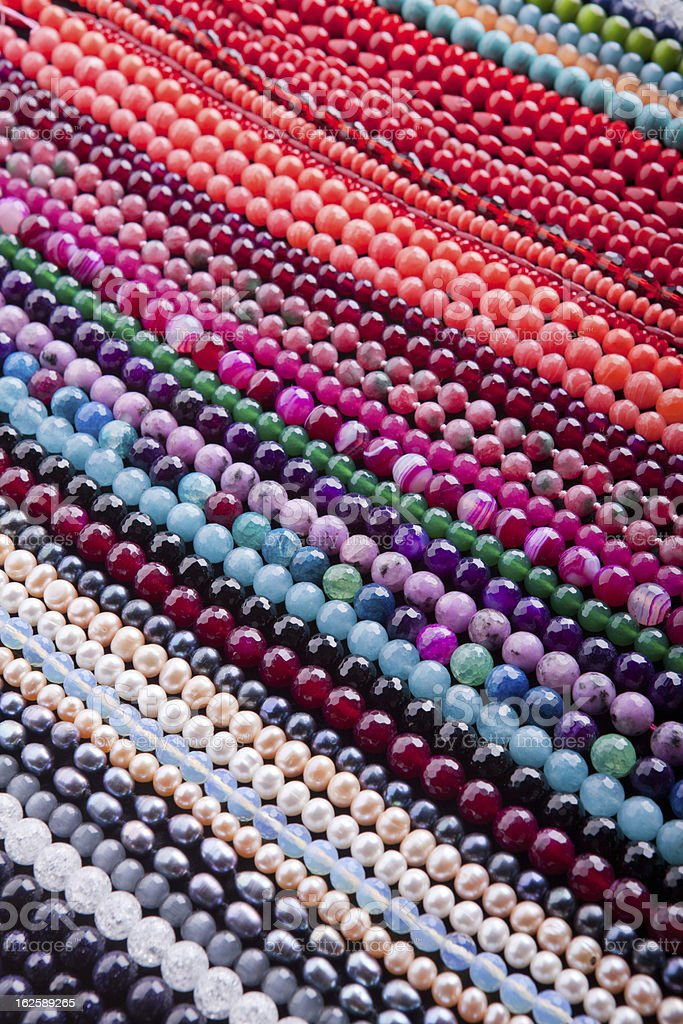 Background from beads. royalty-free stock photo