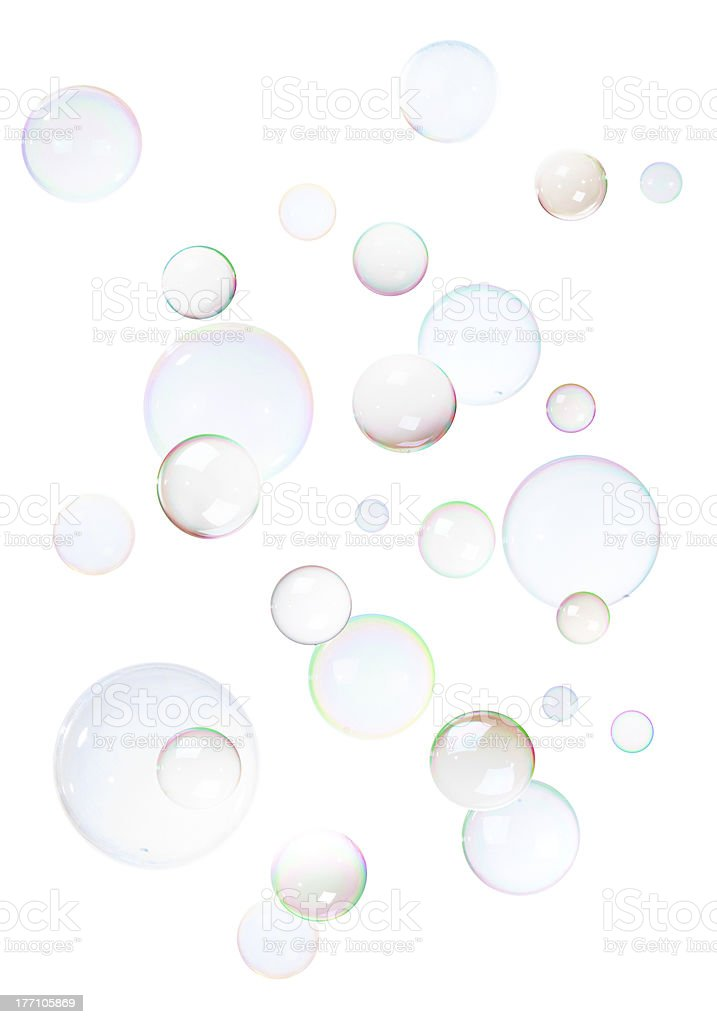 Background from bubbles stock photo