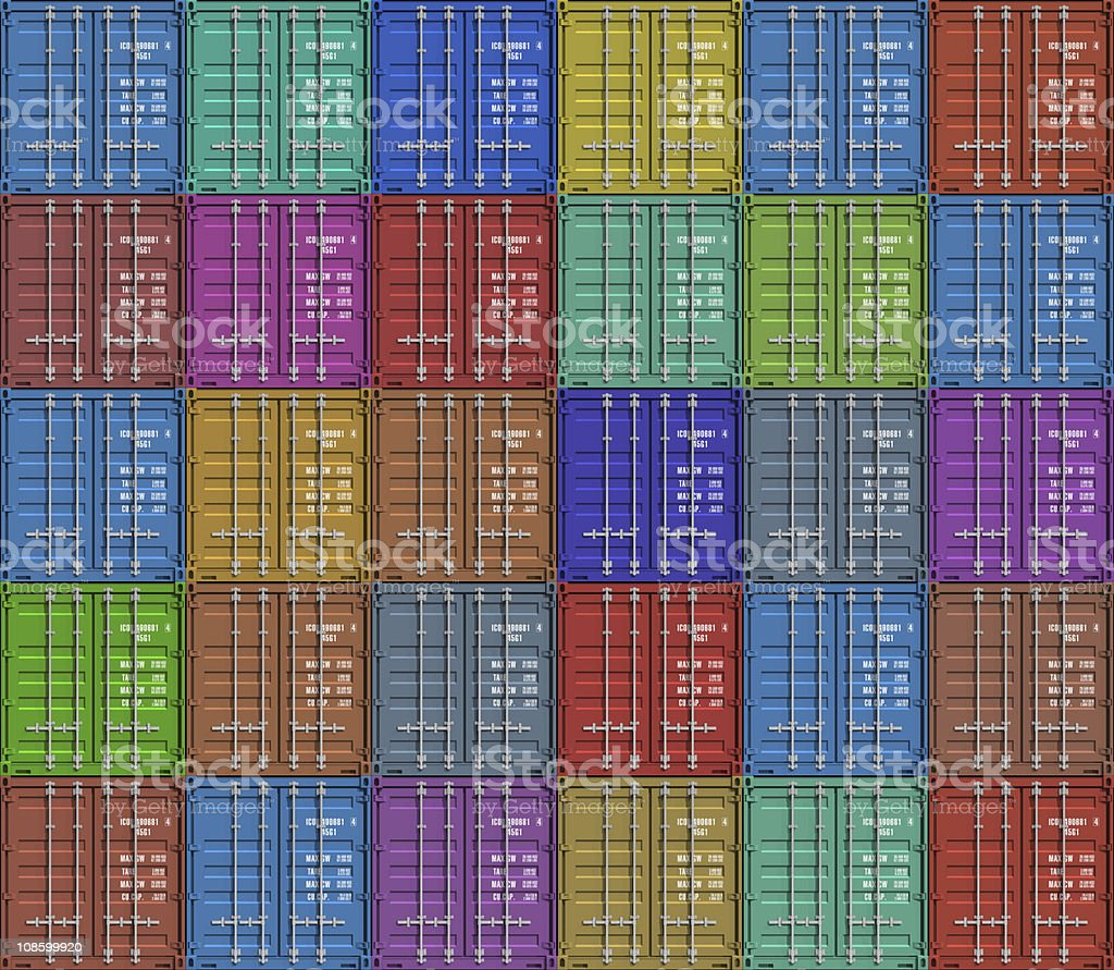 Background from color cargo containers royalty-free stock photo