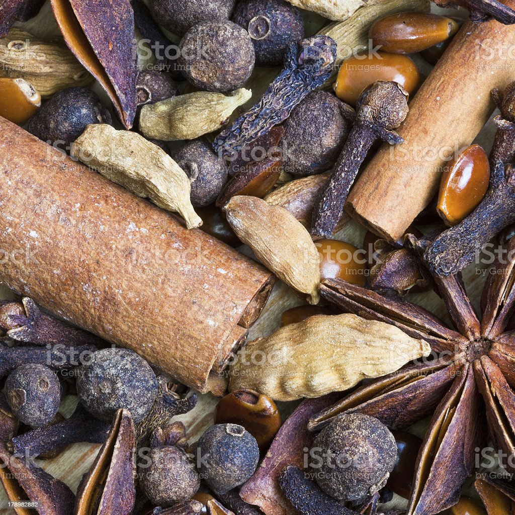 background from dried spices royalty-free stock photo