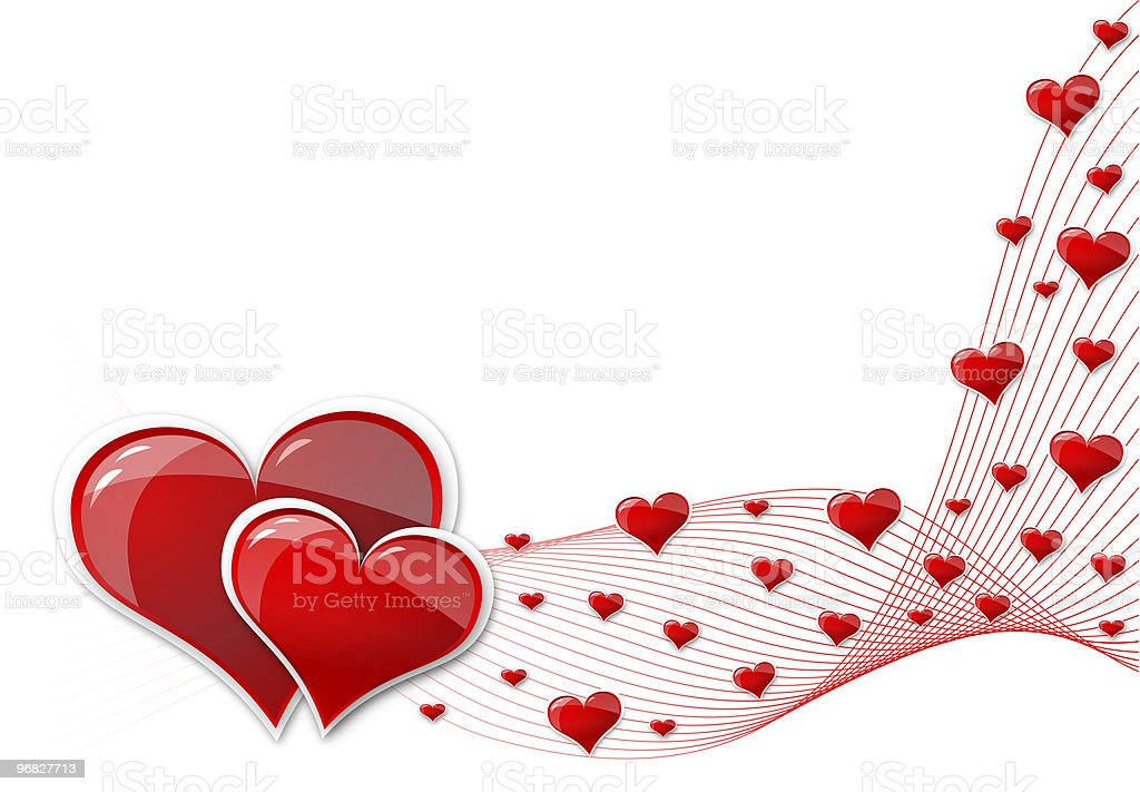 background from hearts royalty-free stock photo