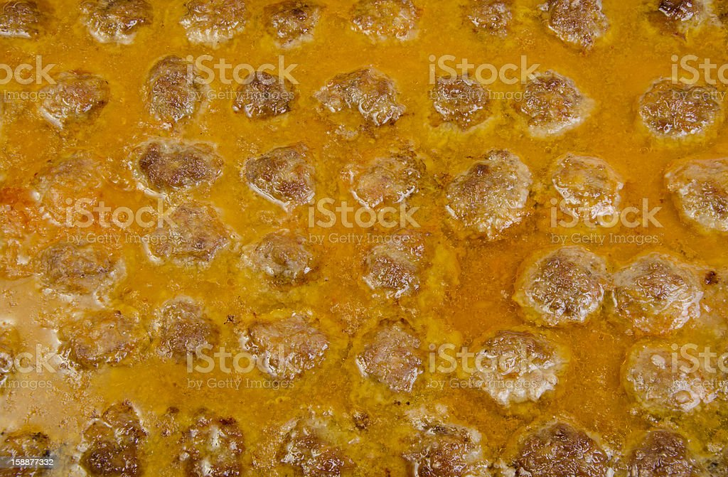 Background from meatballs in sauce. royalty-free stock photo