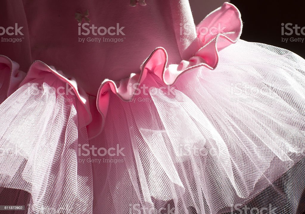 Background from pink skirts tutu stock photo