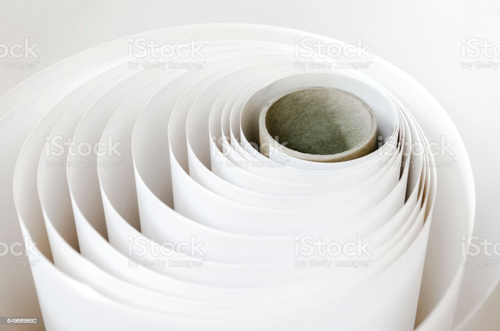 Background from print paper roll stock photo