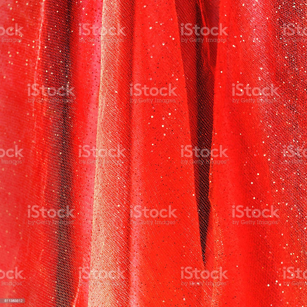 Background from red delicate fabric with sequin stock photo