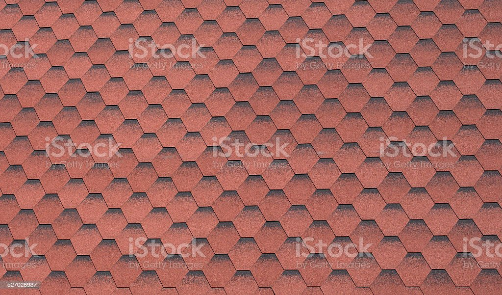 Background from red hexagons stock photo