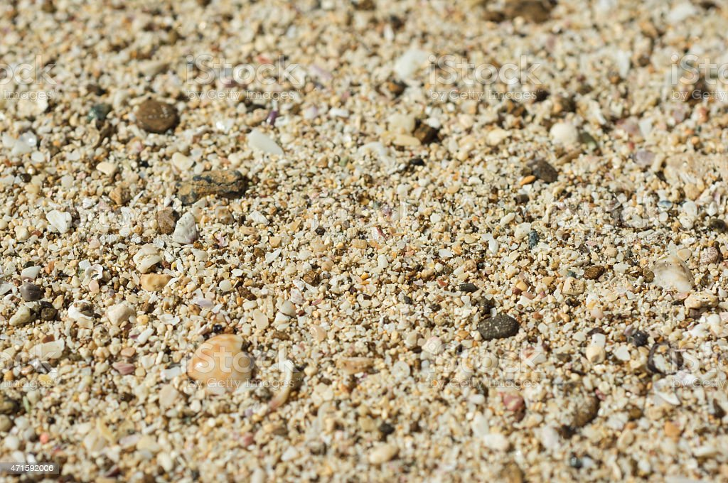 Background from the scattered sea sand stock photo